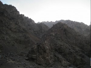 Mountains between Kabul and Jalalabad
