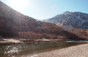 Where we had breakfast along the Panjshir River