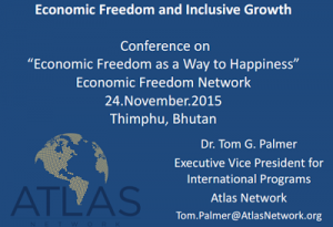 Bhutan to attend the EFN Asia Conference of 2015 and participate in a presentation on Economic Freedom and Inclusive Growth