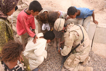 Joey, Iraqi Kids, and Shoes.jpg