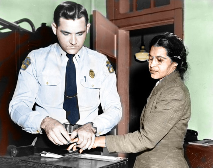 Rosa Parks Being Booked.jpg
